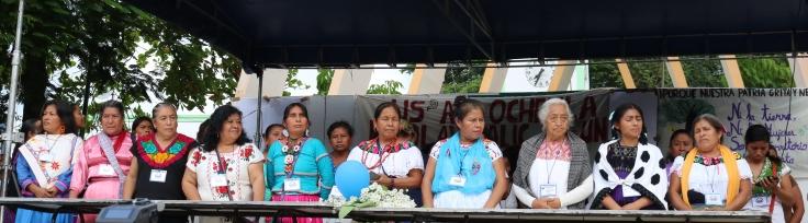 Marichuy y concejalas en Palenque